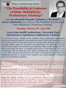 The Possibility  Contours of State Multiplicity - March 18 2014