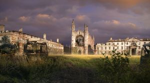 Post-Apocalyptic-Kings-College-Chapel-University-Of-Cambridge-United-Kingdom